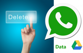 delete whatsapp data from drive
